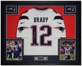 Tom Brady Autographed & Framed White Patriots Jersey Auto Fanatics COA