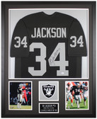 Bo Jackson Autographed and Framed Black Raiders Jersey Auto Beckett COA