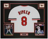 Cal Ripken Jr. Autographed & Framed White Orioles Jersey Auto JSA Cert
