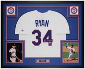 Nolan Ryan Autographed & Framed White Rangers Jersey Auto Fanatics Cert