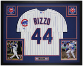 Anthony Rizzo Autographed & Framed P/S Cubs Jersey Auto Fanatics Cert