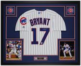 Kris Bryant Autographed & Framed P/S Cubs Jersey Auto Fanatics Cert