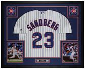 Ryne Sandberg Autographed & Framed P/S Cubs Jersey Auto Tristar Cert