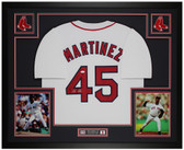 Pedro Martinez Autographed & Framed White Red Sox Jersey Auto JSA Cert