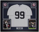 Aaron Judge Autographed & Framed Pinstriped Yankees Jersey Auto Fanatics Cert