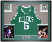 Bill Russell Autographed & Framed Green Celtics Jersey Auto JSA Cert