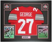 Eddie George Autographed & Framed Red Buckeyes Jersey Auto Beckett Cert