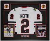 Duncan Keith Autographed & Framed White Blackhawks Jersey Auto PSA Cert