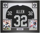 Marcus Allen Autographed & Framed Black Raiders Jersey Auto Beckett Cert