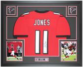 Julio Jones Autographed & Framed Red Falcons Jersey Auto Beckett Cert