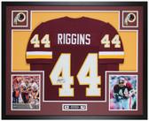 John Riggins Autographed & Framed Maroon Redskins Jersey Auto Beckett Cert