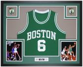 Bill Russell Autographed & Framed Green Boston Celtics Jersey Auto JSA Cert