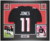 Julio Jones Autographed & Framed Black Falcons Jersey Auto Beckett COA