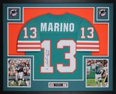 Dan Marino Autographed & Framed Teal Dolphins Jersey Auto Fanatics COA
