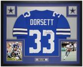 Tony Dorsett Autographed & Framed Blue Cowboys Jersey Auto Beckett COA