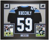 Luke Kuechly Autographed & Framed Black Panthers Jersey Auto Beckett COA
