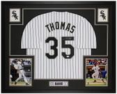 Frank Thomas Autographed & Framed White P/S White Sox Jersey Auto JSA COA