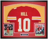 Tyreek Hill Autographed and Framed Red Kansas City Chiefs Jersey Auto JSA COA