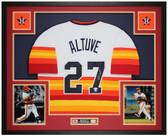 Jose Altuve Autographed and Framed Rainbow Houston Astros Jersey Auto JSA COA