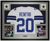 Mel Renfro Autographed and Framed White Cowboys Jersey Auto Beckett COA