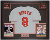 Cal Ripken Jr Autographed & Framed Gray Orioles Jersey Auto JSA Cert
