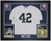 Mariano Rivera Autographed HOF & Framed P/S Yankees Jersey Auto Beckett Cert