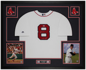 Carl Yastrzemski Autographed and Framed White Red Sox Jersey Auto Beckett Cert