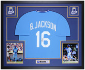 Bo Jackson Autographed & Framed Blue Blue Jersey Auto Beckett Cert
