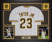 Fernando Tatis Jr Autographed & Framed Pinstriped Padres Jersey Auto Beckett COA