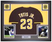 Fernando Tatis Jr Autographed & Framed Brown Padres Jersey Auto Beckett COA