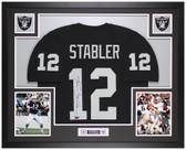 Ken Stabler Autographed & Framed Black Oakland Raiders Jersey Auto Radtke COA