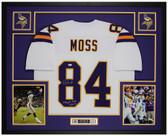 Randy Moss Autographed & Framed White Minnesota Vikings Jersey Auto Beckett COA