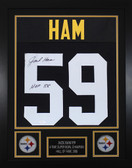 Jack Ham Framed and Autographed HOF 88 Black Pittsburgh Steelers Jersey Auto JSA Certified
