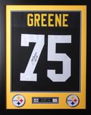 Joe Greene Framed and Autographed HOF 87 Black Pittsburgh Steelers Jersey Auto JSA Certified