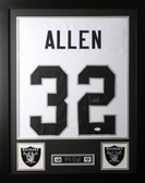 Marcus Allen Framed and Autographed White Raiders Jersey JSA Certified