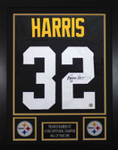 Franco Harris Framed and Autographed Black Pittsburgh Steelers Jersey JSA Certified