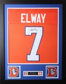 John Elway Framed and Autographed Orange Denver Broncos Jersey Auto JSA Certified