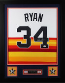 Nolan Ryan Framed and Autographed Rainbow Houston Astros Jersey Auto JSA Certified