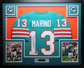 Dan Marino Autographed and Framed Aqua Miami Dolphins Jersey Auto JSA Certified