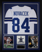 Jay Novacek Autographed and Framed White Dallas Cowboys Jersey Auto GTSM Certified