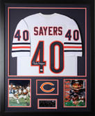 Gale Sayers Autographed & Framed White Chicago Bears Jersey Auto JSA Certification