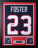 Arian Foster Framed and Autographed Navy Houston Texans Jersey Auto JSA Certified