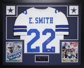 Emmitt Smith Autographed & Framed White Cowboys Jersey Auto PSA COA
