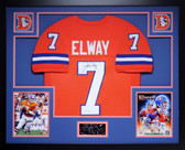John Elway Autographed & Framed Orange Crush Denver Broncos Jersey Auto JSA COA