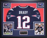 Tom Brady Autographed & Framed Navy New England Patriots Nike Jersey Tristar COA