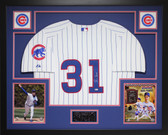 Greg Maddux Autographed and Framed White Chicago Cubs Jersey Auto MLB Certified