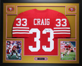 Roger Craig Autographed and Framed Red San Francisco 49ers Jersey Auto JSA Certified