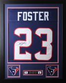 Arian Foster Framed and Autographed Navy Houston Texans Jersey Auto JSA COA