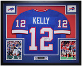 Jim Kelly Autographed and Framed Blue Buffalo Bills Jersey JSA Certified