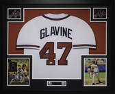 Tom Glavine Autographed and Framed White Atlanta Braves Jersey Auto JSA Certified